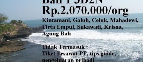 Paket Domestik Bali 1 3D2N