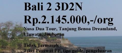 Paket Wisata Domestik Bali 2 3D2N