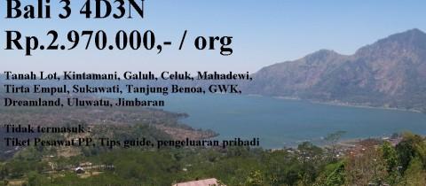 Paket Wisata Domestik Bali 3 4D3N